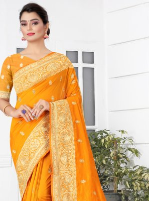 Patch Border Silk Designer Traditional Saree