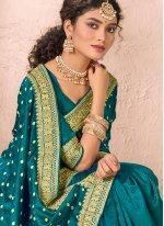 Patch Border Silk Rama Traditional Saree