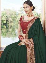 Patch Border Silk Traditional Designer Saree