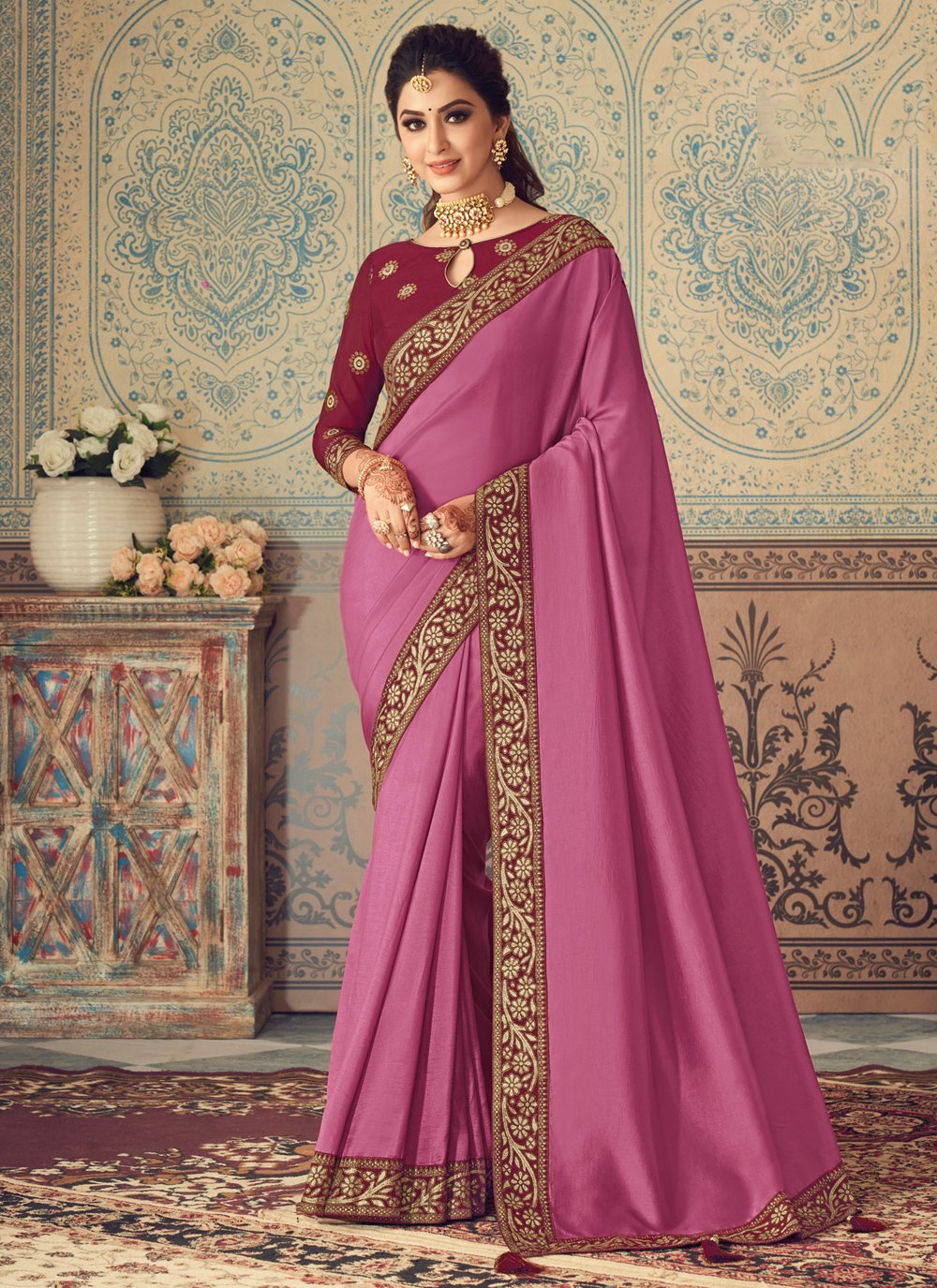 Patch Border Traditional Saree