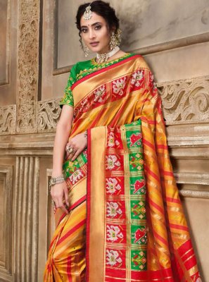 Patola Silk  Embroidered Traditional Designer Saree in Multi Colour