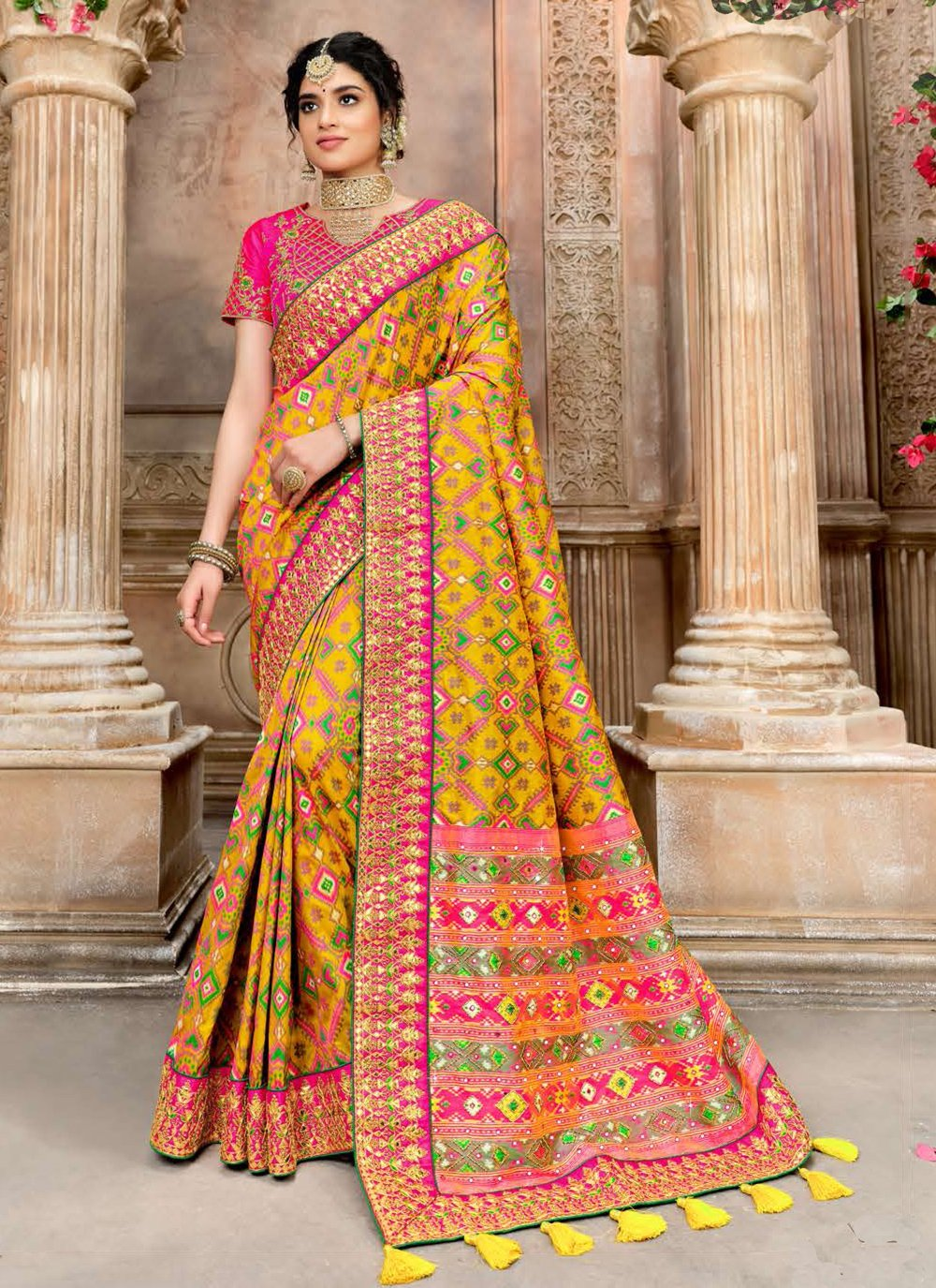Patola Silk  Fancy Designer Traditional Saree