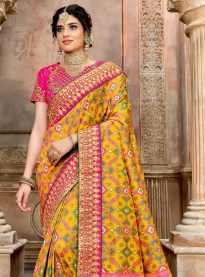 Patola Silk  Fancy Designer Traditional Saree