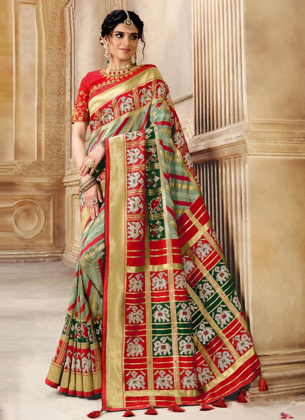 Patola Silk  Fancy Traditional Designer Saree in Multi Colour