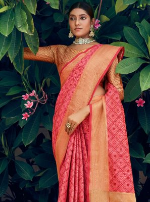 Patola Silk  Pink Traditional Saree