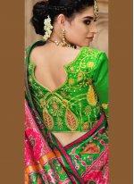 Patola Silk  Resham Traditional Designer Saree in Pink