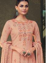 Peach Cotton Trendy Salwar Suit