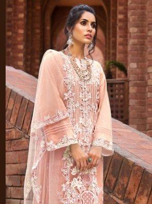 Peach Designer Pakistani Salwar Suit