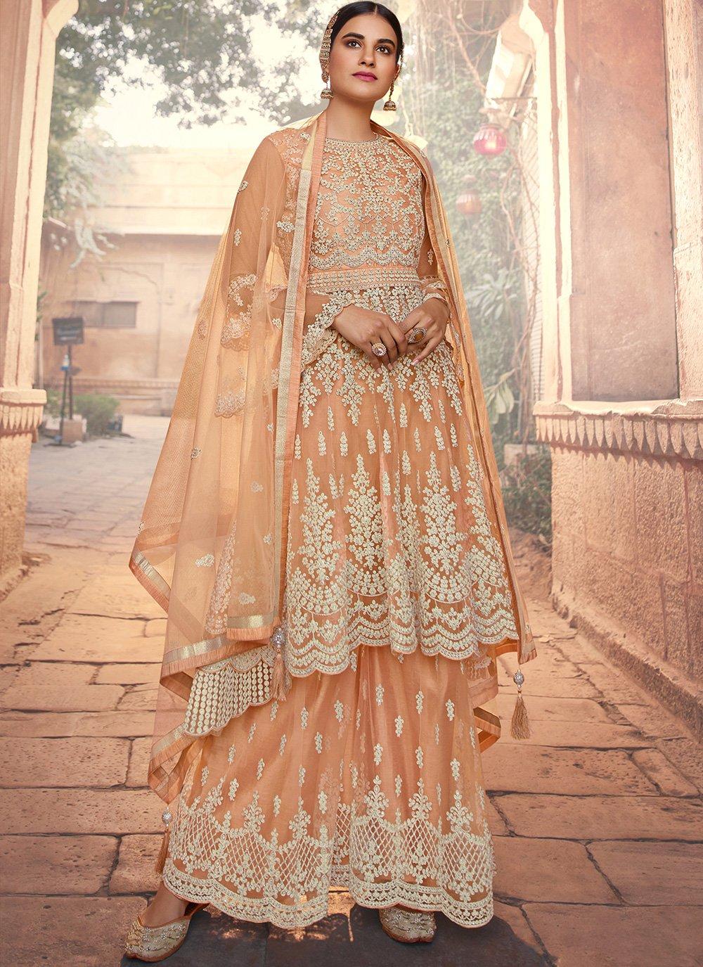 Peach Designer Pakistani Suit