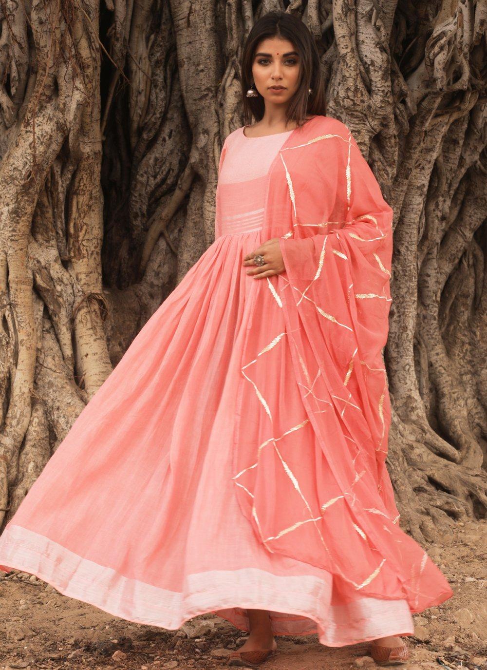 Peach Fancy Designer Gown