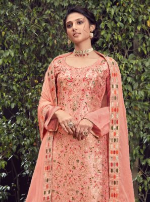 Peach Fancy Festival Designer Pakistani Suit
