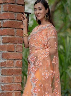 Peach Festival Trendy Saree