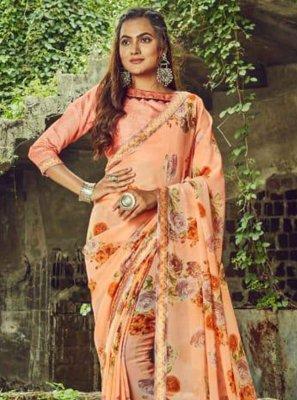 Peach Party Designer Saree