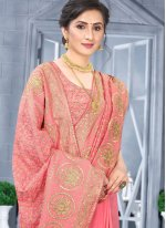 Peach Party Designer Traditional Saree