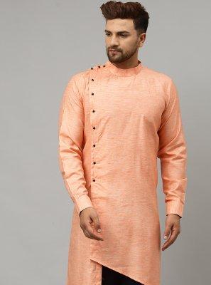 Peach Satin Indo Western