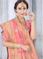 Peach Stone Designer Traditional Saree