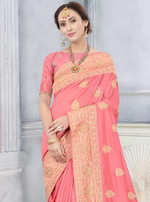 Peach Stone Designer Traditional Saree