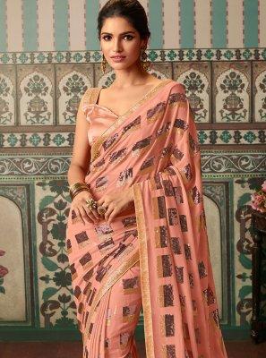 Peach Trendy Saree