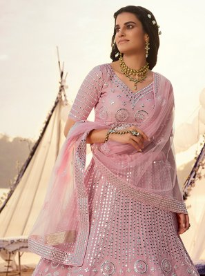 Pink A Line Lehenga Choli