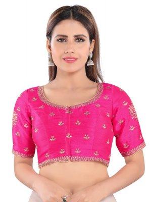 Pink Art Silk Blouse