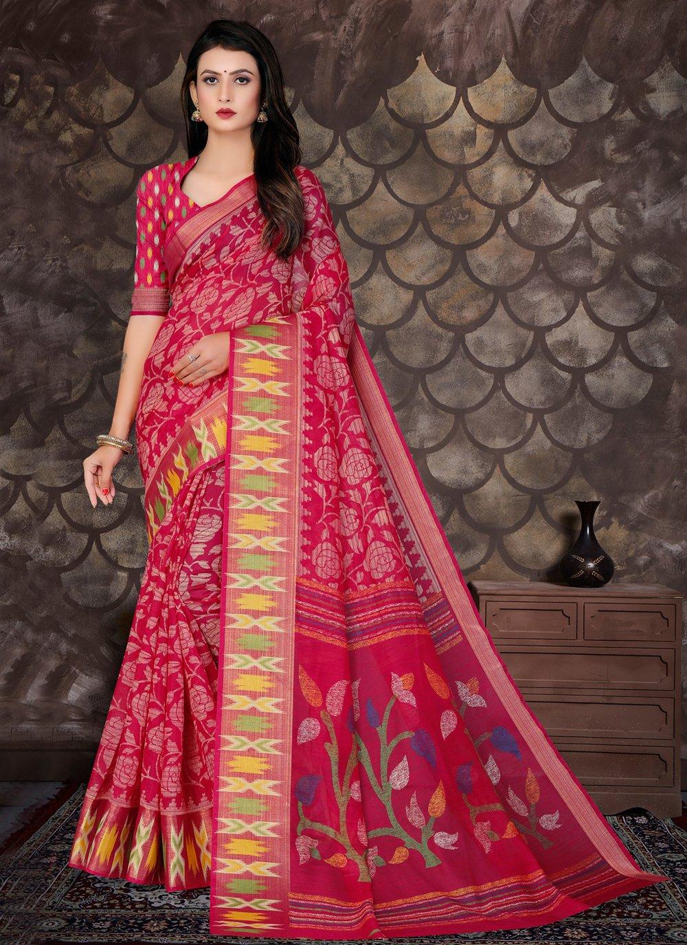 Pink Bollywood Saree