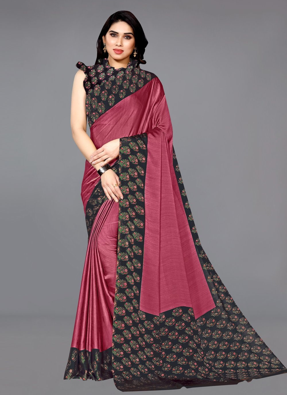 Pink Casual Traditional Saree