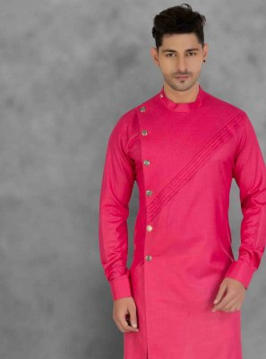 Pink Ceremonial Cotton Kurta Pyjama