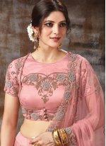 Pink Ceremonial Satin Silk Lehenga Choli