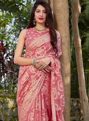 Pink Ceremonial Traditional Saree
