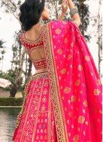 Pink Color A Line Lehenga Choli