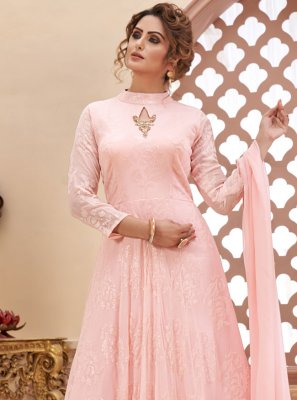 Pink Color Readymade Anarkali Suit