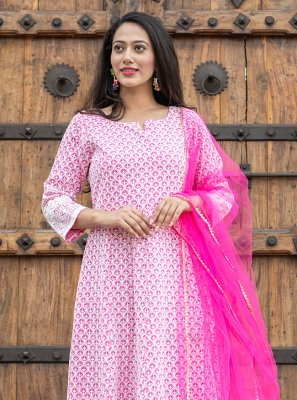 Pink Color Readymade Suit