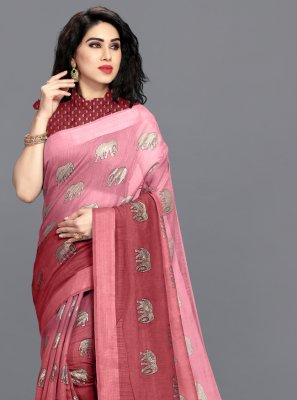 Pink Color Shaded Saree