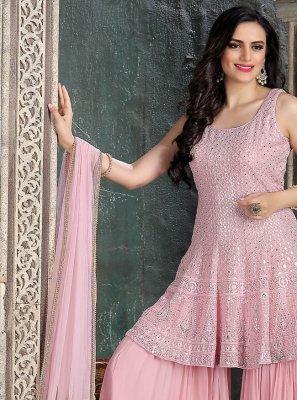 Pink Color Trendy Salwar Kameez