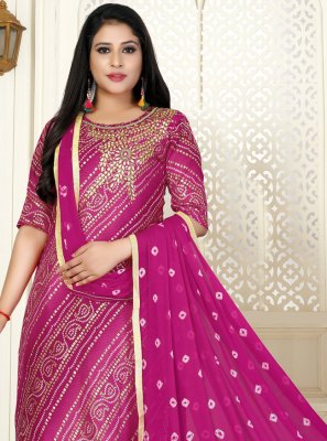 Pink Cotton Designer Salwar Suit