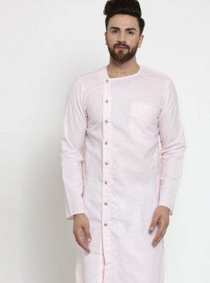 Pink Cotton Festival Kurta Pyjama