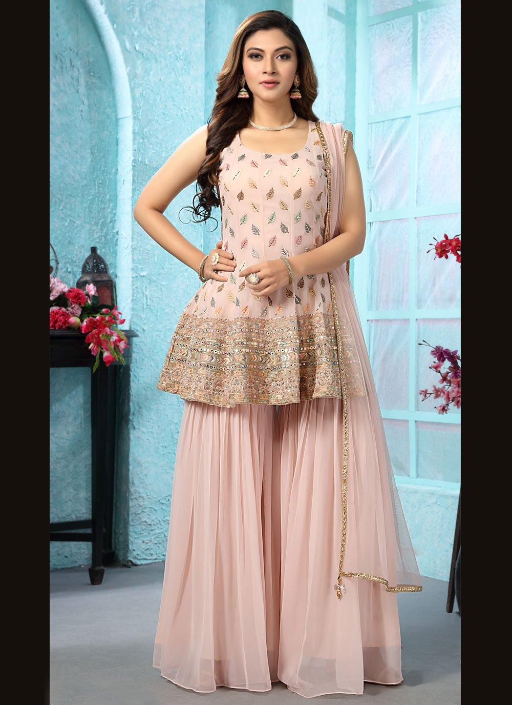 Pink Embroidered Designer Salwar Suit