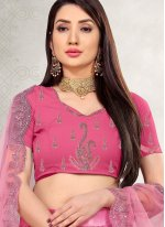 Pink Embroidered Lehenga Choli