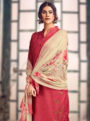 Pink Embroidered Party Designer Salwar Kameez