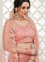 Pink Embroidered Reception Trendy Lehenga Choli