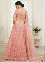 Pink Embroidered Reception Trendy Lehenga Choli