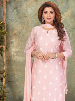Pink Embroidered Sangeet Pant Style Suit