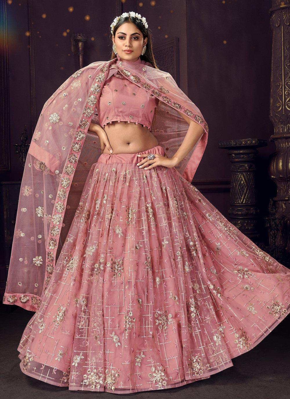 Pink Engagement Bollywood Lehenga Choli