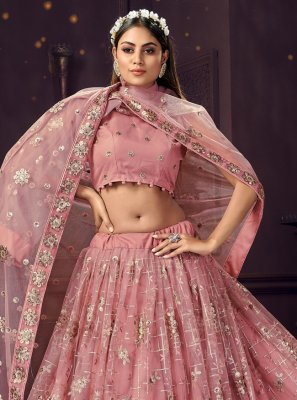 Pink Engagement Bollywood Lehenga Choli
