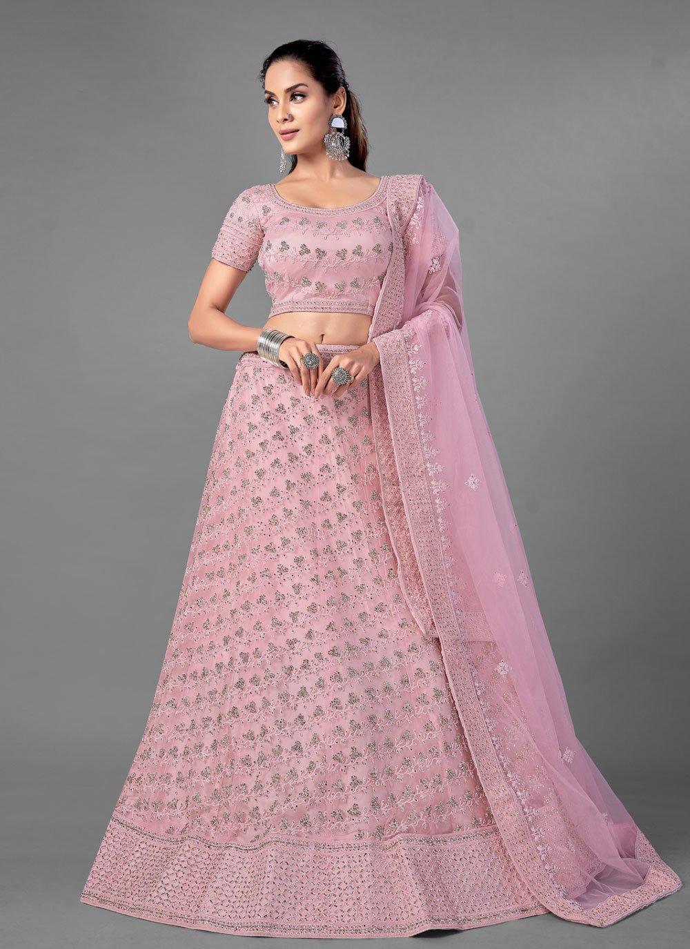 Pink Engagement Lehenga Choli