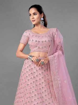 Pink Engagement Lehenga Choli