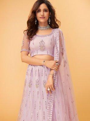 Pink Engagement Trendy Lehenga Choli