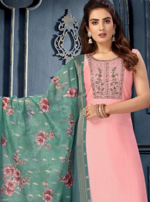 Pink Fancy Art Silk Designer Suit