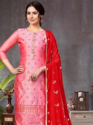 Pink Fancy Ceremonial Churidar Designer Suit