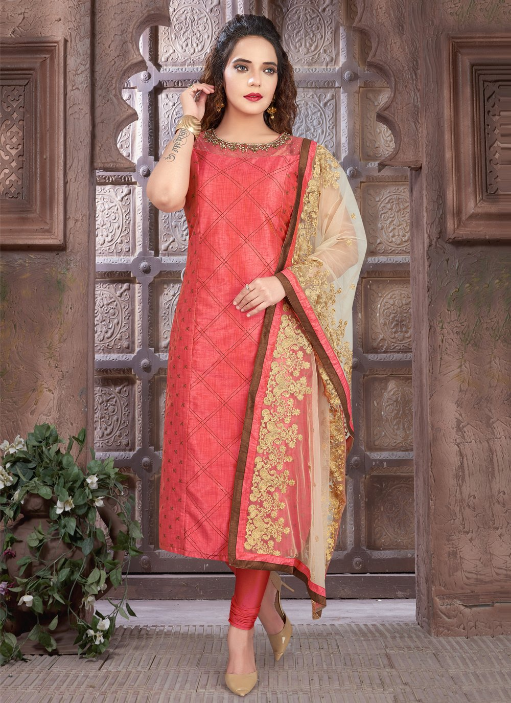 Pink Fancy Ceremonial Readymade Suit